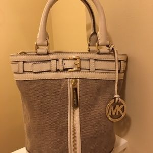 Michael Kors Taupe & Cream Bucket Bag